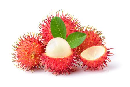 Ramboutan doux délicieux fruit isolé sur fond blanc Banque d'images - 87920790