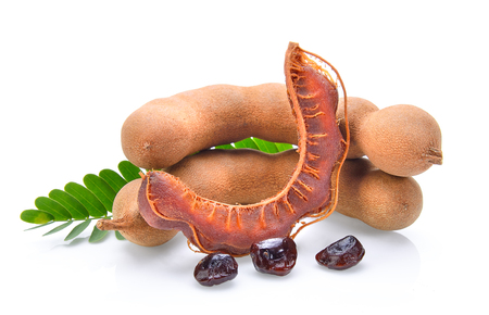 Tamarind isolated on the white background