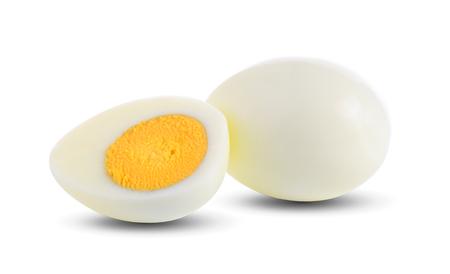 boiled egg on white background 스톡 콘텐츠