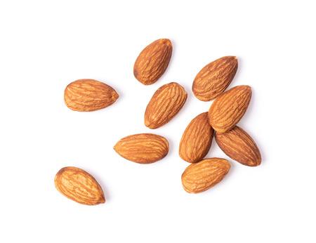 Mandel. Nüsse isoliert auf weißem Hintergrund