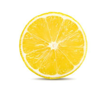 lemon slice isolated on a white background