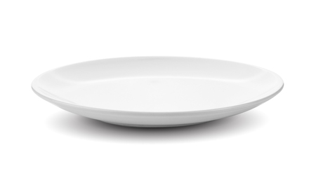 white plate isolated on white background Stok Fotoğraf
