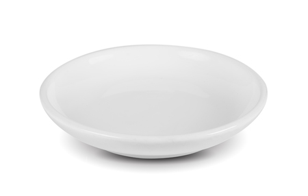 white seramic bowl on white background