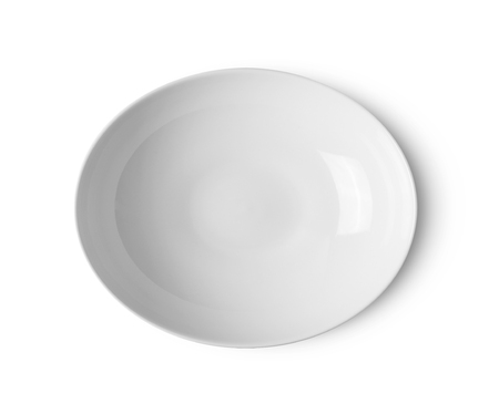 white ceramic plate on white background