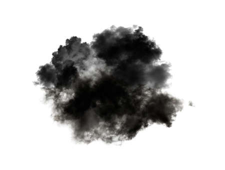 clouds isolated on black background Imagens