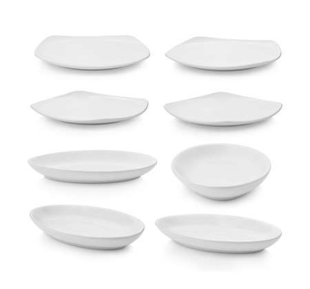 set of plate on white background Stock fotó - 157792659