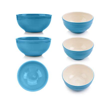set of  bowl on white background