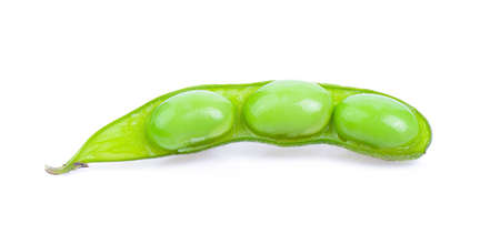 green soy beans isolated on white background Banque d'images
