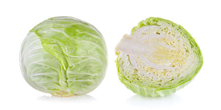 cabbage isolated on white background Banque d'images