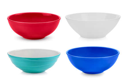 set of bowl on white background