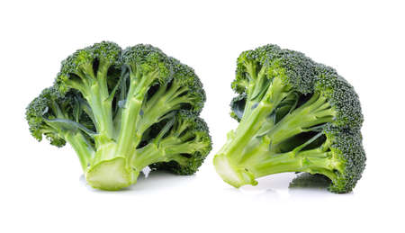 fresh broccoli on white background Banque d'images