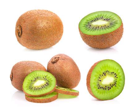 fresh kiwi fruit on white background Reklamní fotografie