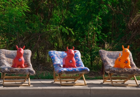 Dolls on a chairs Stock Photo - 13712822