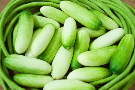 cucumbers, green beans Stock Photo - 14243183