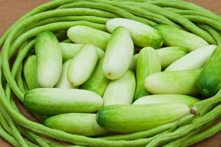 cucumbers, green beans Stock Photo - 14243186
