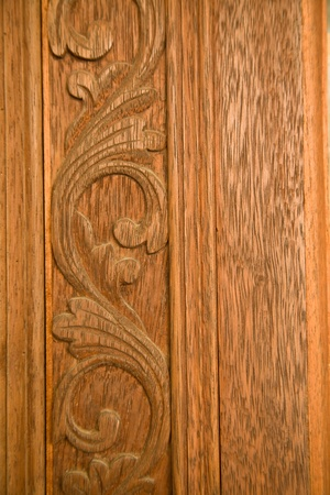 engrave: Pattern Thai art carving on wood