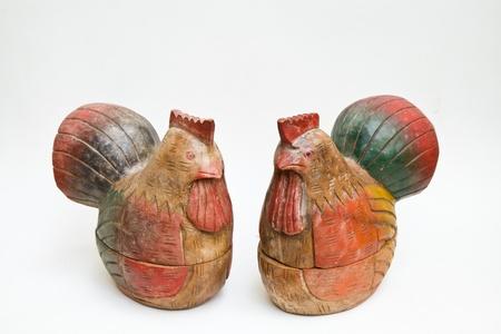 travesty: Two chicken wood caskets