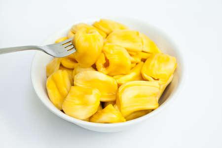 ambrosia: Jackfruit in the white bowl Stock Photo