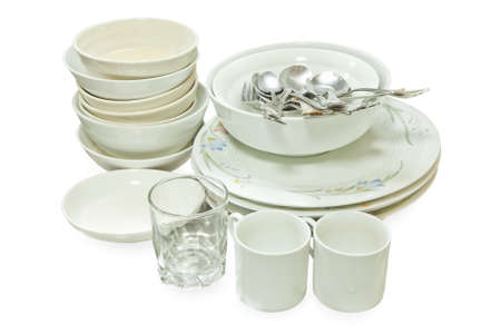Crockery, Kitchenware after use photo
