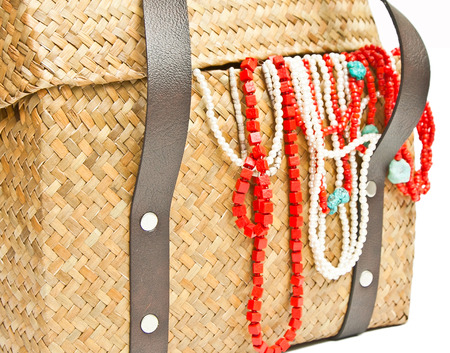 basket embroidery: Handicraft chest and ornament