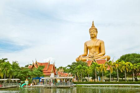 Big Buddha in Wat Pikunthong Singburi Thailand