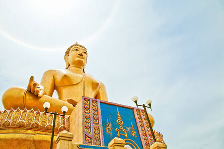 singburi: Big Buddha in Wat Pikunthong Singburi Thailand