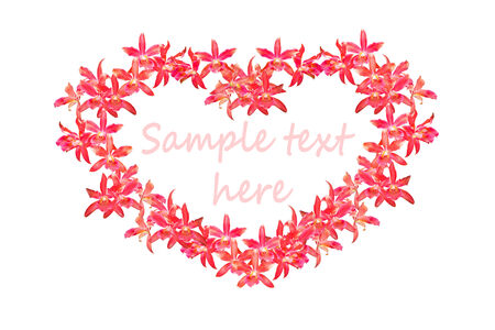 airiness: Red heart flowers  isolated on white Stock Photo