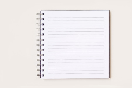 Blank book, Diary isolated on white Banco de Imagens