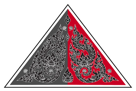arts culture and entertainment: Thai art triangle pattern Illustration