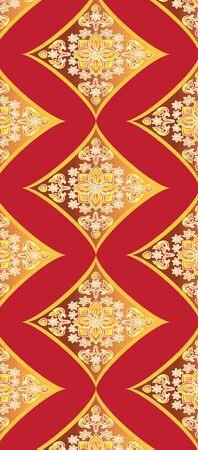 arts culture and entertainment: Thai art pattern, Backgrounds Illustration