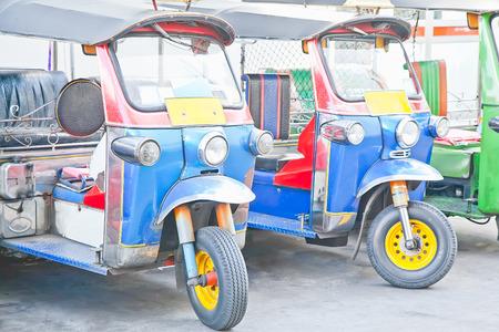 tuktuk: Thailand native taxi call tuk-tuk in Bangkok
