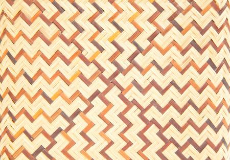 cross hatching: Woven bamboo pattern Stock Photo