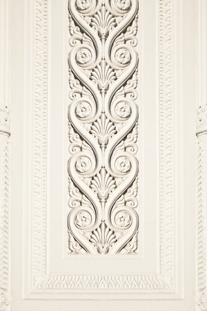 architectural feature: Stucco on fence line Stock Photo