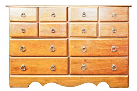 teak wood: Teak wood drawer isolated on white