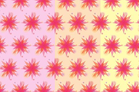 arts culture and entertainment: Pink flowers pattern Illustration