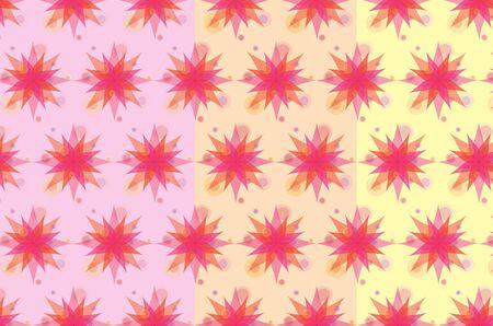 Pink flowers pattern Illustration