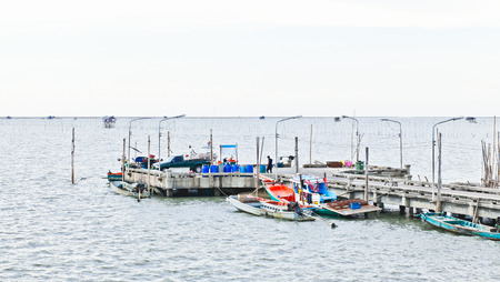 fishing pier: Thai fishing pier