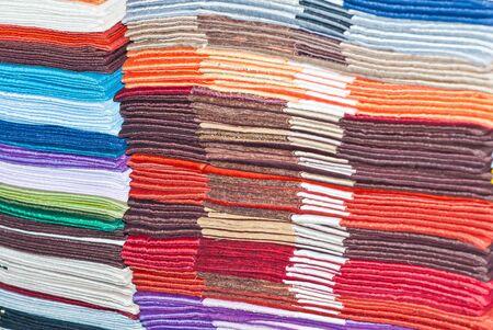 handkerchief: Piles of handkerchief Stock Photo