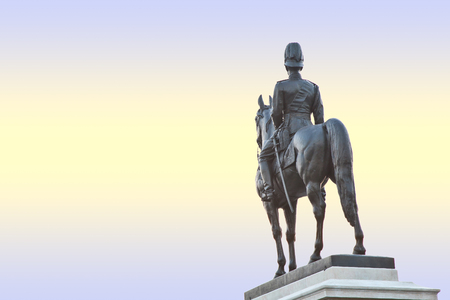 superpowers: The equestrian statue of King Rama V in Bangkok, Thailand