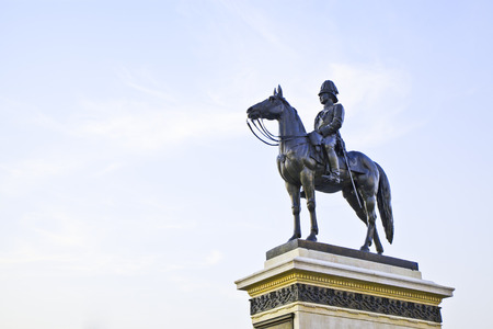 The equestrian statue of King Rama V in Bangkok, Thailand