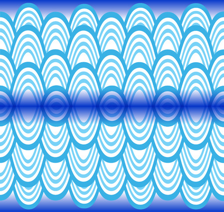waves pattern: Blue waves pattern Illustration