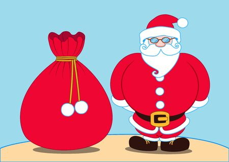 speculative: Santa claus and a gift bag Illustration