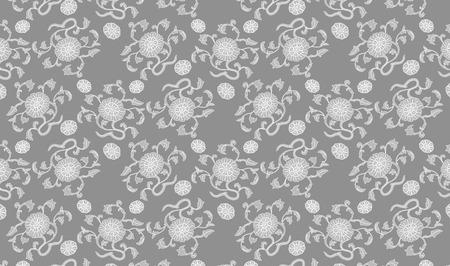 attern: Flowers Thai art pattern, Backgrounds Illustration
