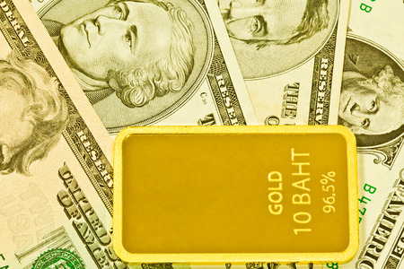 speculate: Gold bars and usa dollar
