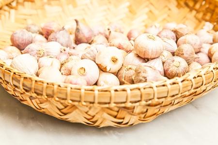 perfumed: Single clove garlic in basket
