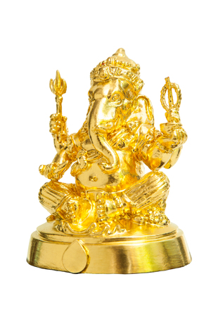 god ganesh: The Hindu god Ganesh isolated on white