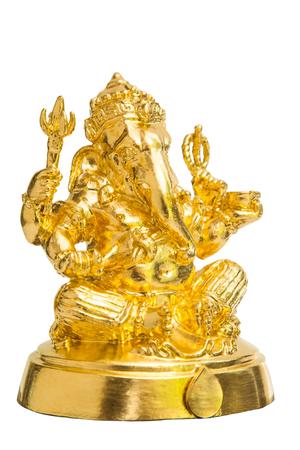 god ganesh: The Hindu god Ganesh isolated on white