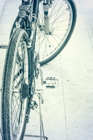 handle bars: Mountain bike on marble ground