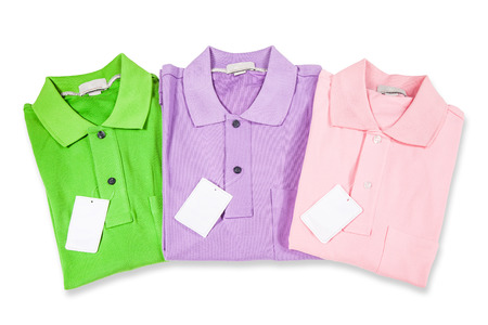 unbranded: Polo Shirts isolated on white Stock Photo