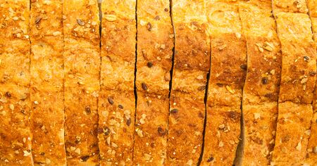 whole wheat bread: Whole wheat bread pattern, Backgrounds Stock Photo